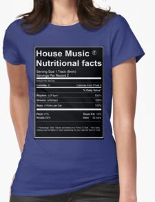House Music Nutritional Facts Womens Fitted T-Shirt