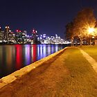 A view from Balmain East Wharf at Night by Harry Roma