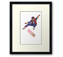 Marty Kickflip Framed Print