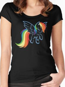 My Little Pony: Rainbow Dash Women's Fitted Scoop T-Shirt