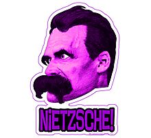 Nietzsche - Big Head Nietzsche! Photographic Print