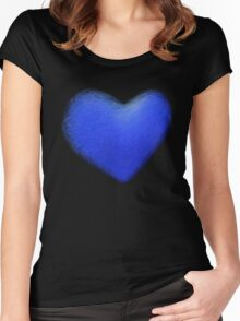 blue heart Women's Fitted Scoop T-Shirt