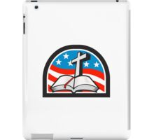 Bible and Cross Stars and Stripes Flag Retro iPad Case/Skin