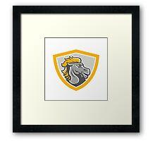 Bronco Horse Head Shield Framed Print