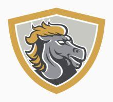 Bronco Horse Head Shield T-Shirt