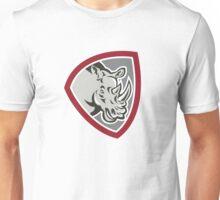 Rhinoceros Head Side Shield Unisex T-Shirt