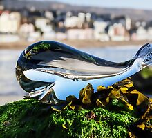 Glass Whale At Lyme Regis by Susie Peek