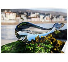 Glass Whale At Lyme Regis Poster