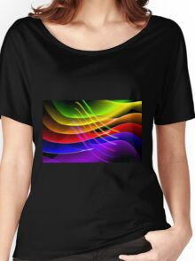 Rainbow Waves Women's Relaxed Fit T-Shirt
