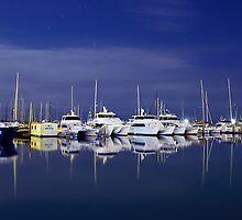 Peace in Urangan Harbour  by Peter Doré