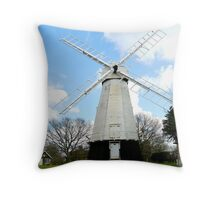 The Old Chailey Windmill Throw Pillow