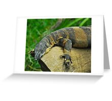Posing Perentie Greeting Card