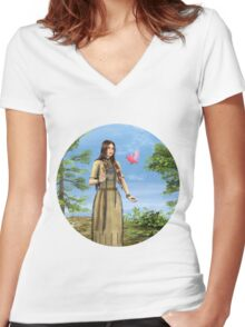 Indian Summer Women's Fitted V-Neck T-Shirt