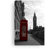 Red phone box, London Canvas Print
