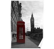Red phone box, London Poster