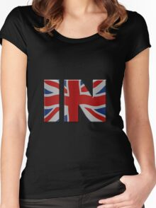 British In/Out EU referendum. IN with Union Jack flag. Women's Fitted Scoop T-Shirt