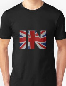 British In/Out EU referendum. IN with Union Jack flag. Unisex T-Shirt