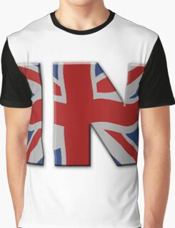 British In/Out EU referendum. IN with Union Jack flag. Graphic T-Shirt