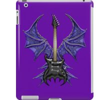 Black Gothic Bat Guitar iPad Case/Skin