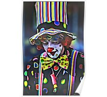 Thoughtful Clown Poster