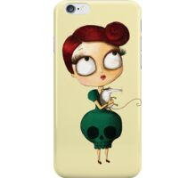 Lady with The Possum iPhone Case/Skin