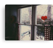 Cold day, cold hearts Canvas Print