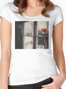 Cold day, cold hearts Women's Fitted Scoop T-Shirt