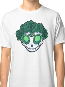 Aqua Rose Crown Skull Classic T-Shirt