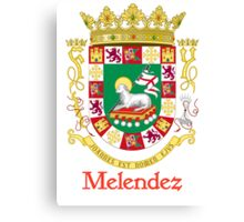 Melendez Shield of Puerto Rico Canvas Print