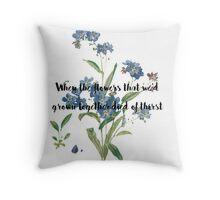Taylor Swift Lyric Throw Pillow