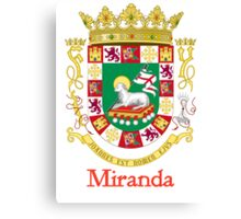 Miranda Shield of Puerto Rico Canvas Print
