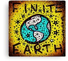 Finite Earth Remix Canvas Print