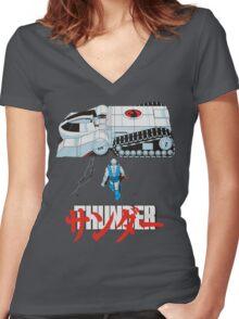 THUNDER Women's Fitted V-Neck T-Shirt