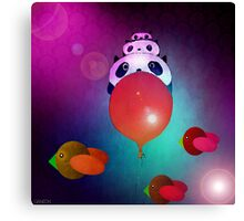 The journey of the family panda Canvas Print