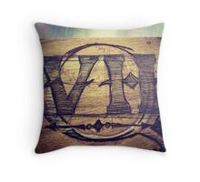 2 Lettered Monogram Throw Pillow