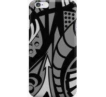 grayscale graffiti iPhone Case/Skin