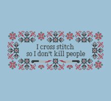 I cross stitch quote by cloudsfactory