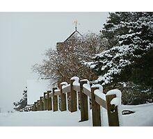 St Martha on the Hill, Near Chilworth, Guildford in the Snow Photographic Print