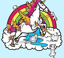 Laser-Shooting, Rainbow-Hugging, Cuteness-Exuding Cats from the Sky (Playing with a Unicorn) by PolySciGuy