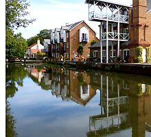 Converted Mill at Thames Lock on the River Wey by looneyatoms