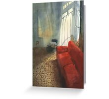 Red sofa Greeting Card
