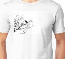 A Crow Flies Past a Lifeless Tree Unisex T-Shirt
