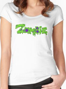 Zombie (Typography) Women's Fitted Scoop T-Shirt
