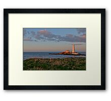 St Marys Lighthouse Framed Print