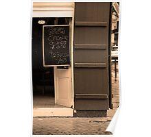 New Orleans - Bourbon Street Menu Poster