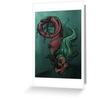 Gunmetal Mermaid Greeting Card