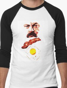 Ron Bacon Eggs Men's Baseball ¾ T-Shirt