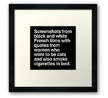 Screenshots and Quotes Framed Print