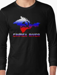 Crimea River Russian Flag Long Sleeve T-Shirt