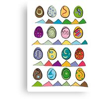 Easter eggs pattern of 16 Canvas Print